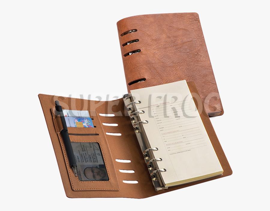 Transparent Binders Clipart - A6 Ring Binder Notebook, Transparent Clipart