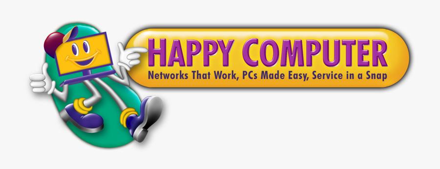Happy Computer Computer Laptop Repair Plano Frisco - Happy Computer Logo, Transparent Clipart