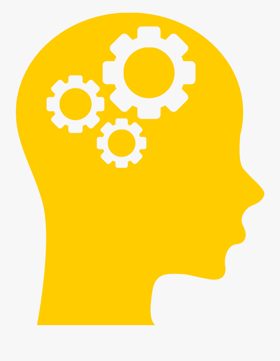 Knowledge - Human Head With Set Of Gears Silhouette Png, Transparent Clipart