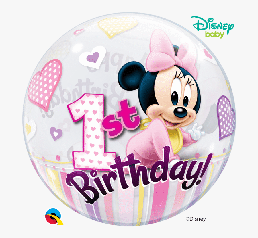 22 - Disney Minnie Mouse 1st Birthday, Transparent Clipart
