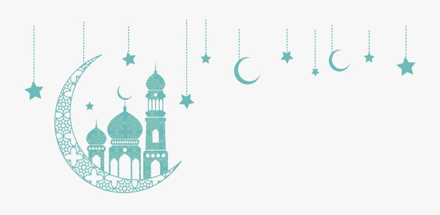 Quran Ramadan Moon Green Eid Ornaments Church Clipart - Design Eid Al Adha, Transparent Clipart