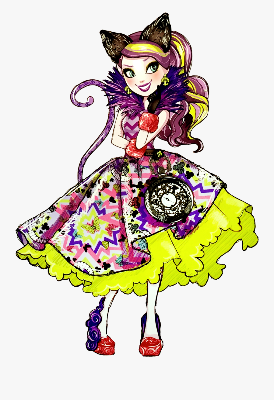"""Cheshire Cat Ever After High Doll Drawing Alice""""s Adventures - Ever After High Way Too Wonderland Kitty Cheshire, Transparent Clipart"""