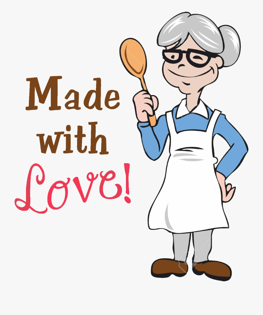 Grandmother Clipart Cooking - Old Lady Chef Cartoon , Free Transparent  Clipart - ClipartKey
