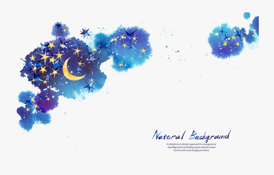 Star Moon Night Sky - Starry Night Background Png, Transparent Clipart