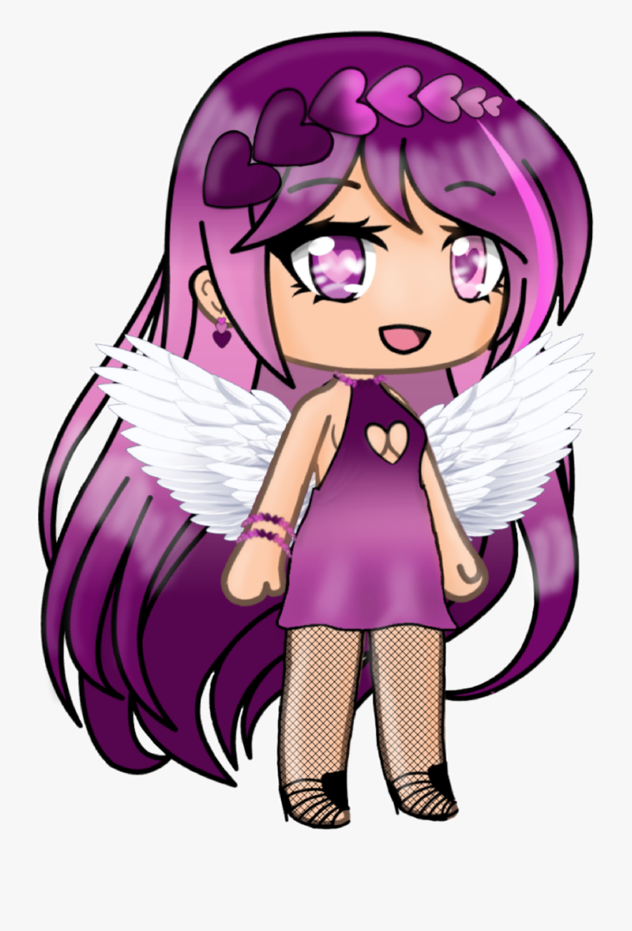 An Update For Valentina - Gacha Life Angel Wings, Transparent Clipart