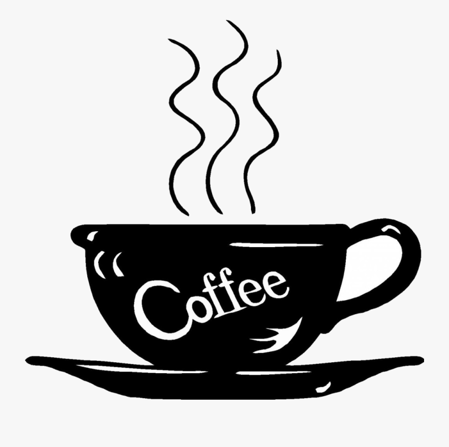 Coffee Coffee Clipart Black And White Lckdabi Around - Clip Art Cup Of Coffee, Transparent Clipart