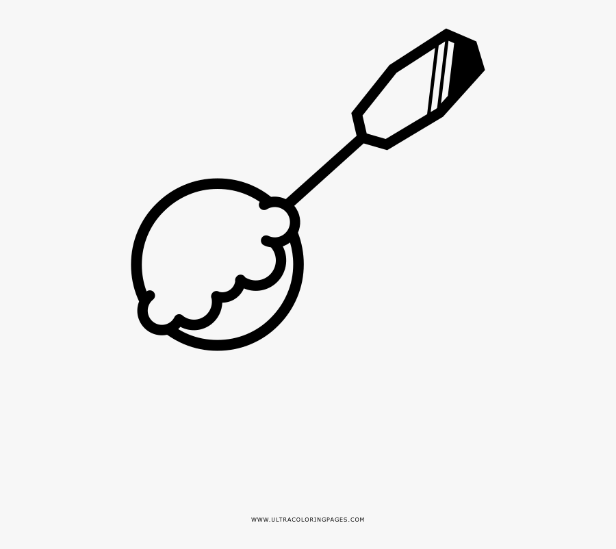 Ice Cream Scoop Coloring Page - Free Ice Cream Scoop Coloring Page, Transparent Clipart