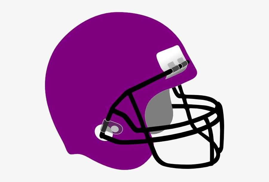 Purple Football Helmet Clip Art, Transparent Clipart