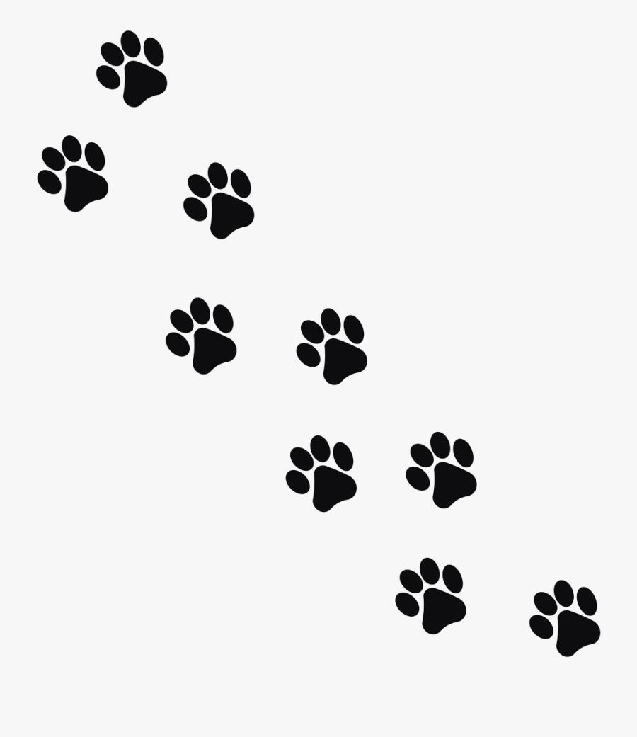 Footprint Animal Cat Png Image - Paw Prints Transparent Background, Transparent Clipart