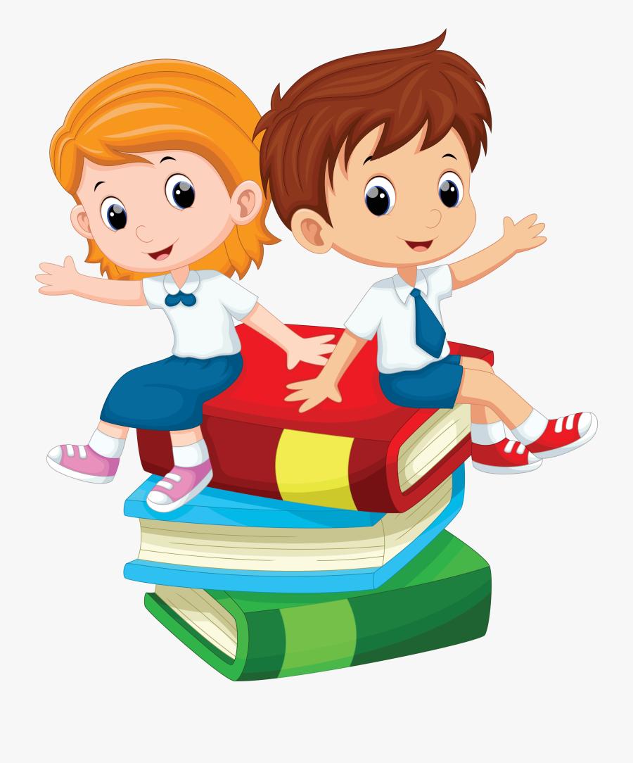 Cartoon Student Clip Art - Student Boy And Girl Clipart, Transparent Clipart