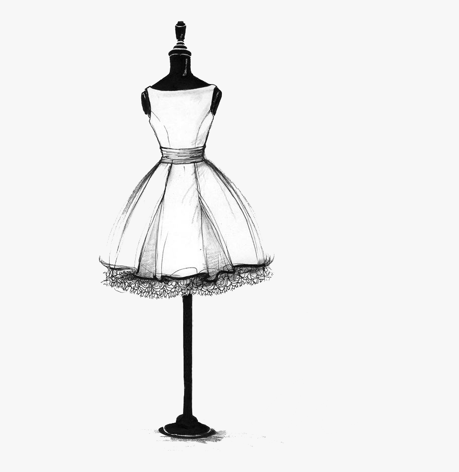 Collection Of Free Drawing Dresses Mannequin Download - Fashion Simple Dress Drawing, Transparent Clipart