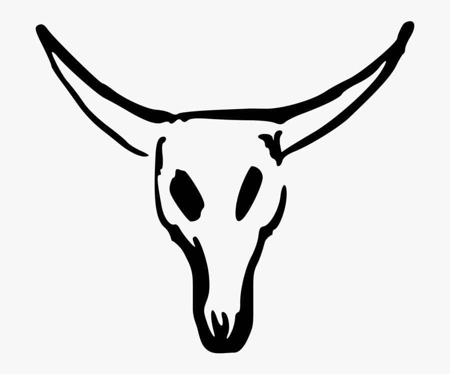 Bull Skull Drawing Easy, Transparent Clipart