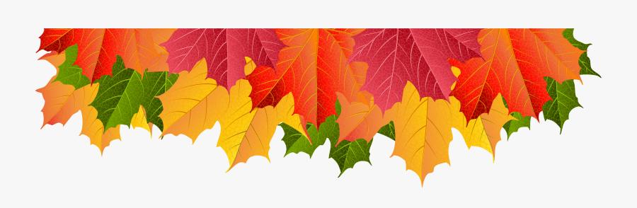 Clipart Leaves Border - Fall Leaf Border Clipart, Transparent Clipart