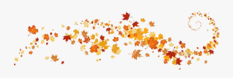 Festival Clipart Border Design 13 - Fall Leaves Banner Clip Art, Transparent Clipart
