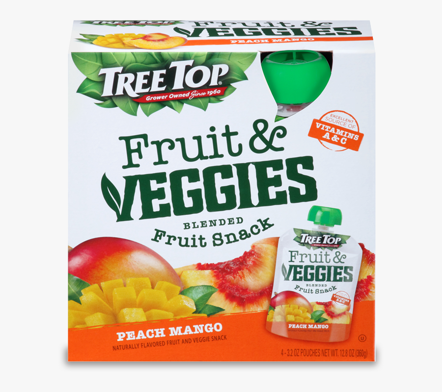 Tree Top Fruit And Veggies Fruit Snack - Naturally Fruit Flavored Snacks, Transparent Clipart