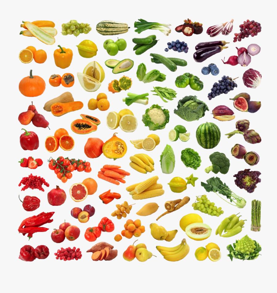 #veggies #fruit #rainbow #mydrunkenmonkey #freetoedit - Fruits And Vegetables Stock, Transparent Clipart