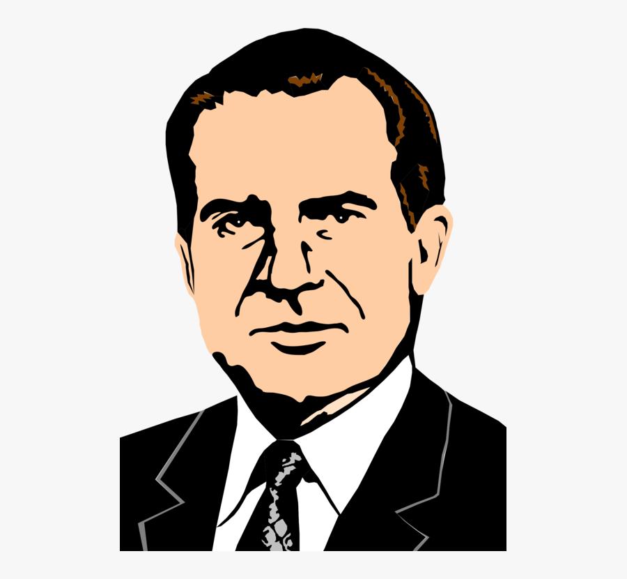 Human Behavior,art,gentleman - Richard Nixon, Transparent Clipart