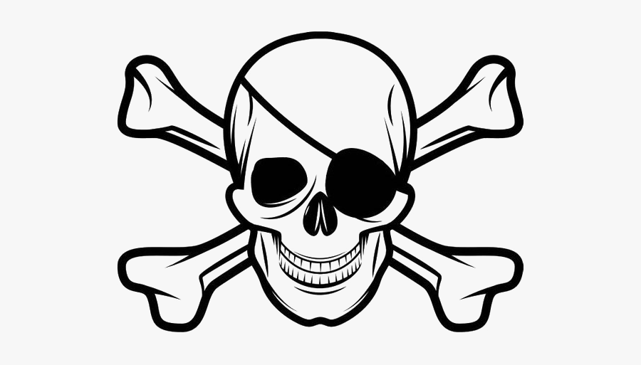 Skull And Crossbones Eye Patch, Transparent Clipart