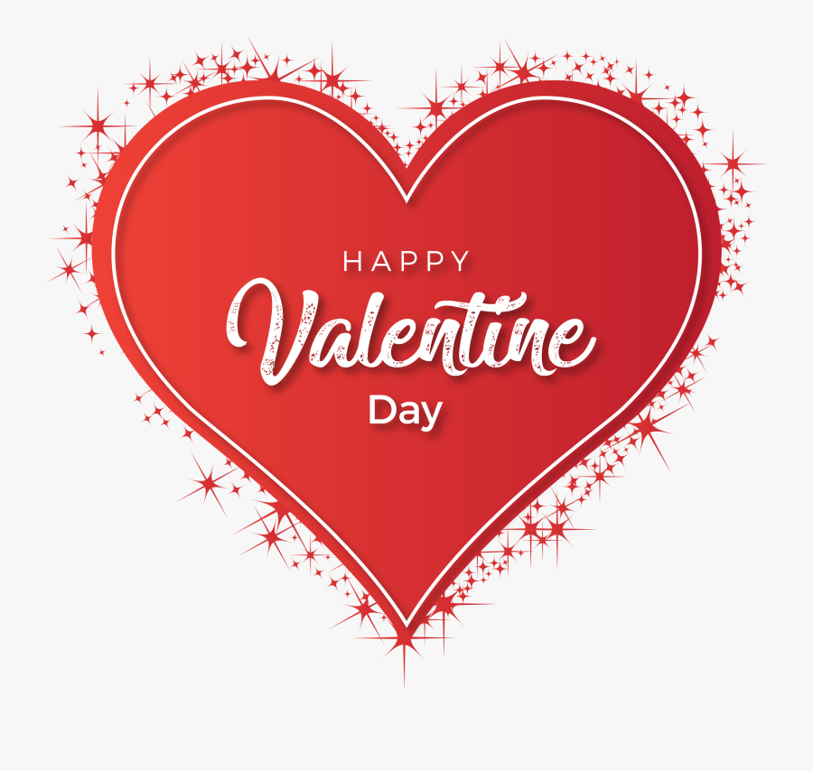 Happy Valentine Day Heart, Transparent Clipart