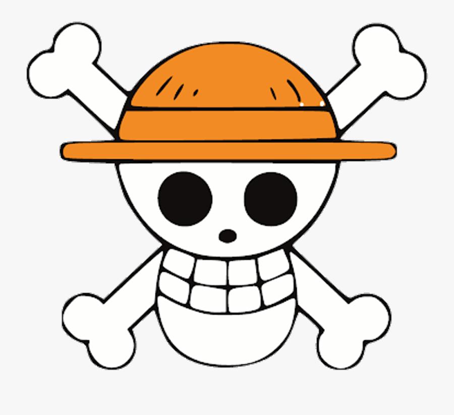 Onepiece Luffy Anime Pirate Pirata Logo Skull Caveira - Custom Jolly Roger One Piece, Transparent Clipart
