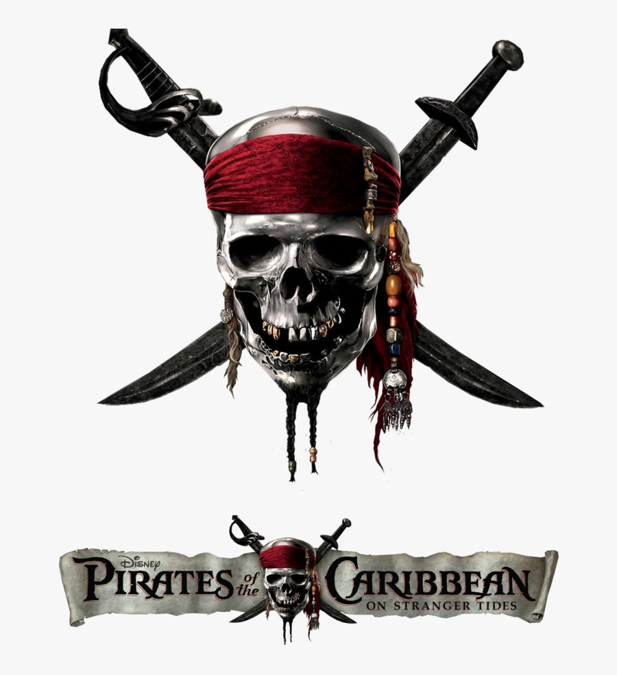 Transparent Pirate Skull Png - Pirates Of The Caribbean On Stranger Tides Logo, Transparent Clipart