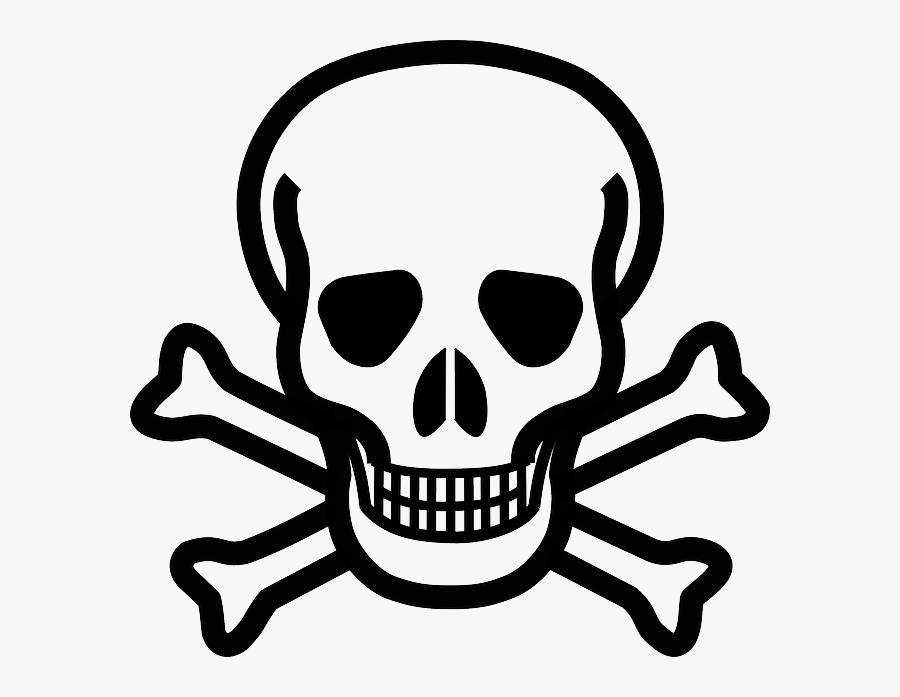 """Cross, Skull, Danger, Crossbones, Bones, Death""""s Skull - Skull And Crossbones, Transparent Clipart"""
