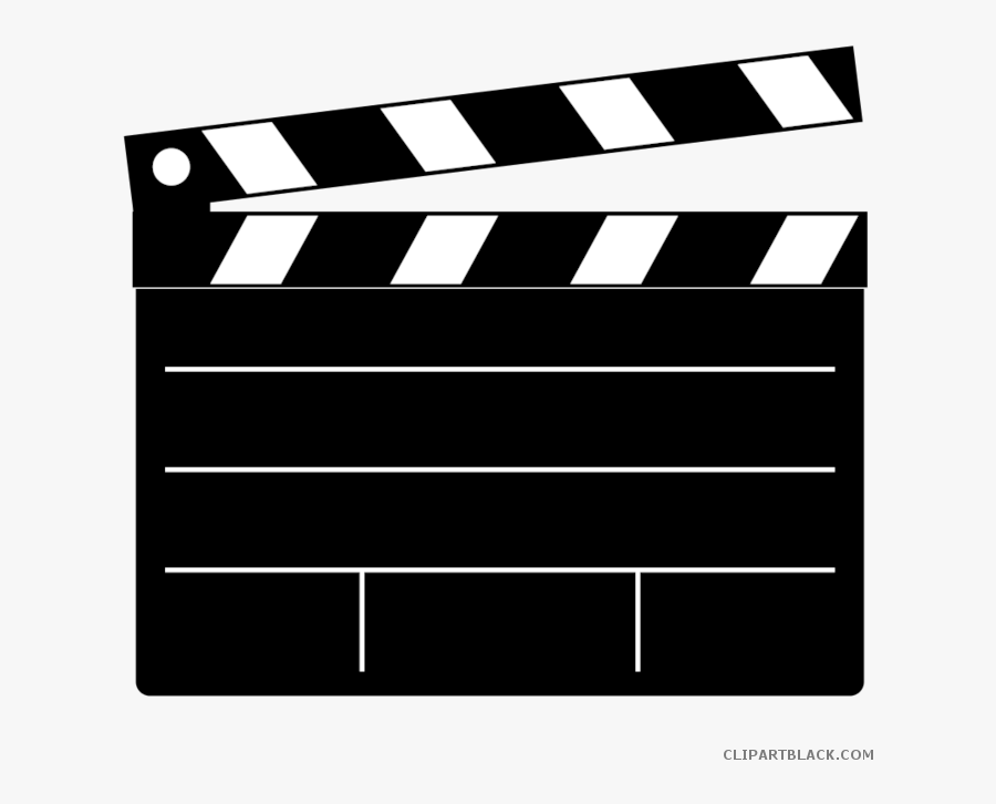 Transparent Light Clipart Black And White - Clapper Board, Transparent Clipart