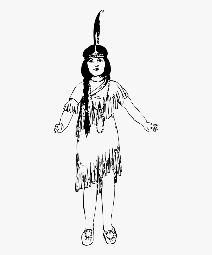 Native American Girl Clip Art, Transparent Clipart