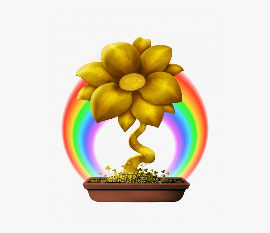 Transparent Rainbow Pot Of Gold Png - Flower, Transparent Clipart
