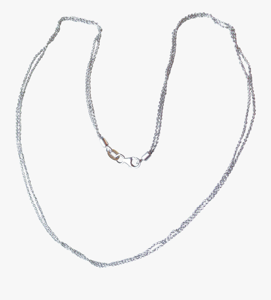 Clipart Free Download K Italian White Gold Double Strand - Necklace, Transparent Clipart