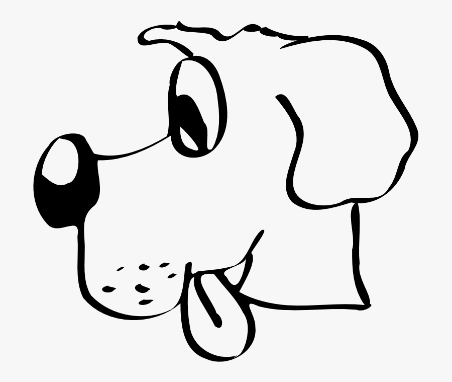 Art,monochrome Photography,text - Clip Art Of Dog Head, Transparent Clipart