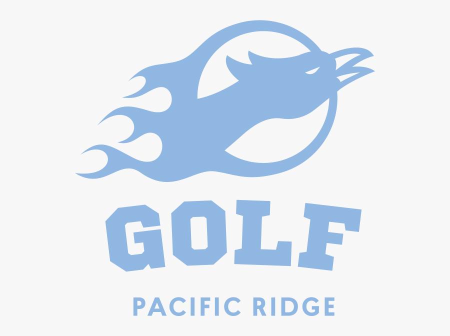 Golf Firebirds Badge1 Sports World Lt Blue Rgb - Pacific Ridge School, Transparent Clipart