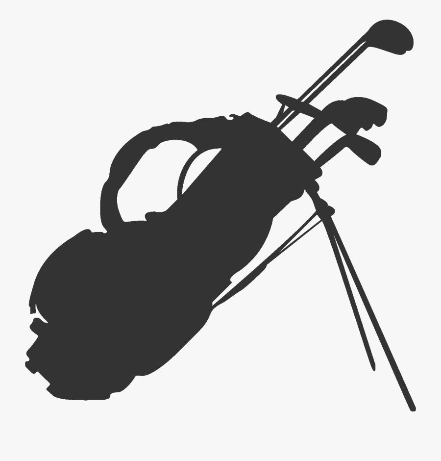Golf Clubs Golfbag Sports - Transparent Golf Club Silhouette, Transparent Clipart