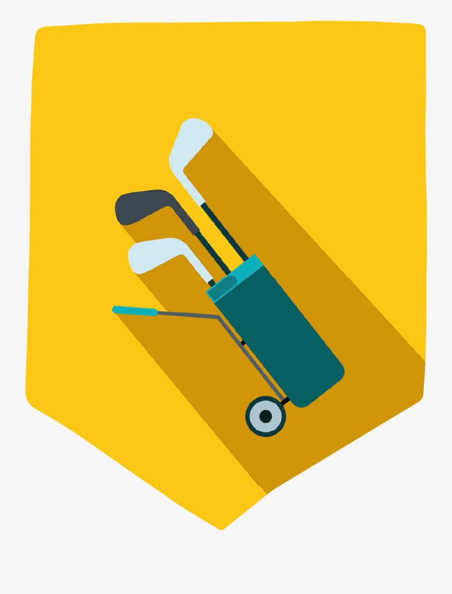 Yellow Golf Bag - Golf, Transparent Clipart
