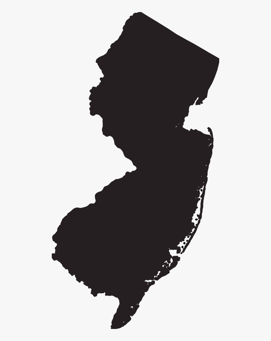 Transparent Shake Clipart Black And White - New Jersey State Transparent, Transparent Clipart