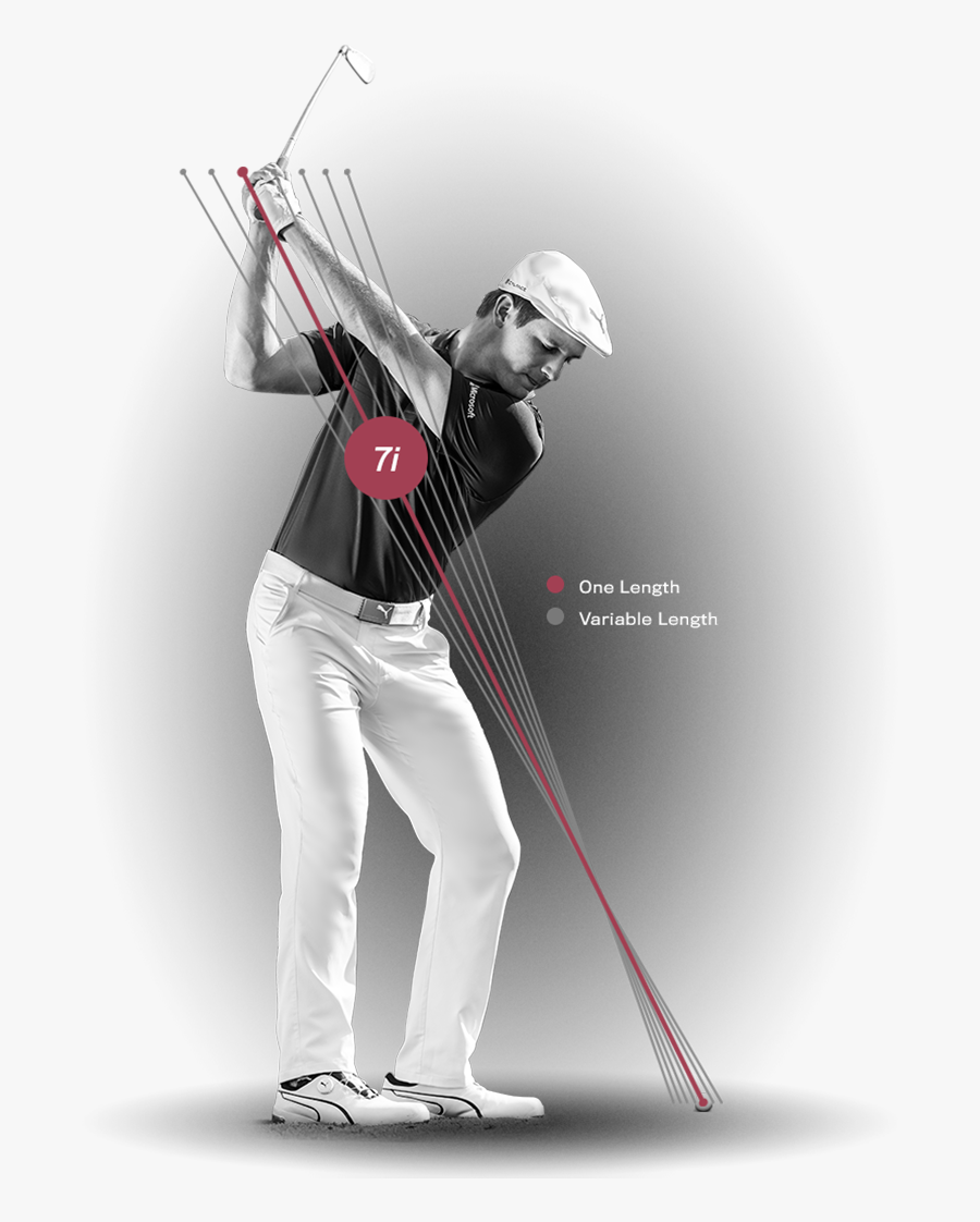 One Length Golf Swing, Transparent Clipart
