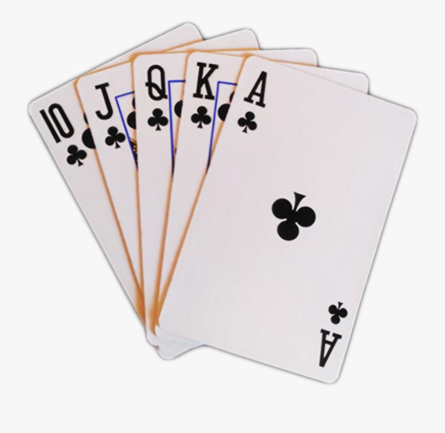 Royal Flush In Clubs Transparent, Transparent Clipart