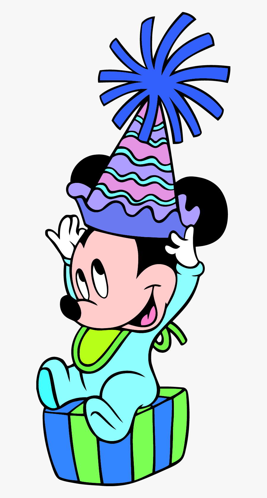 Party Mickey Mouse 1st Birthday Clipart Png - Mickey Mouse Happy Birthday Baby, Transparent Clipart