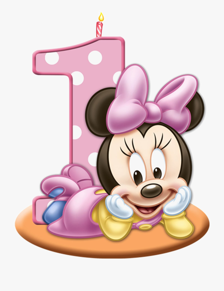 1st Birthday Png Pink - Minnie Mouse Baby 1st Birthday, Transparent Clipart