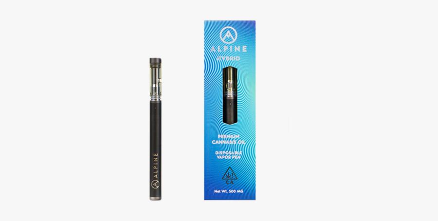 Clip Art Alpine Live Resin Vapor - Alpine Disposable Vape Pen, Transparent Clipart
