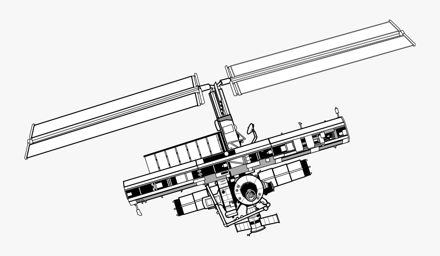 International Space Station - International Space Station Line Drawing, Transparent Clipart