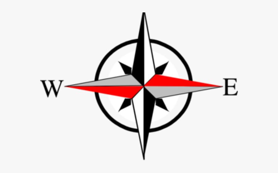 Compass North East West South, Transparent Clipart
