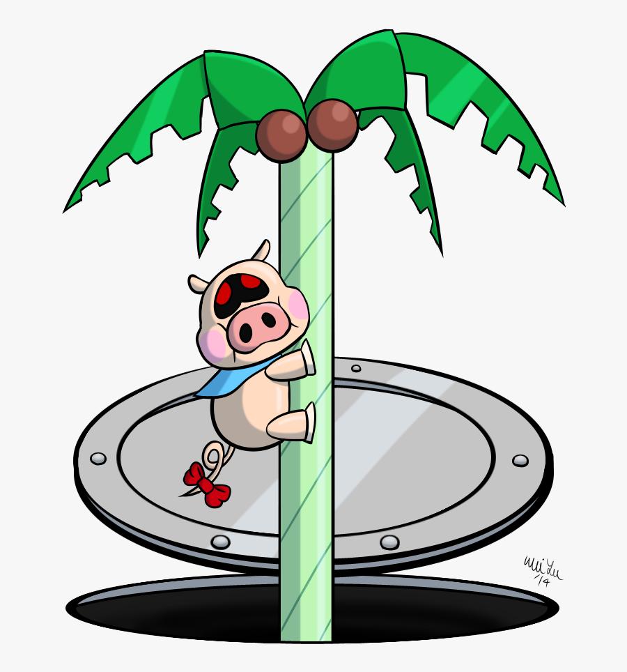 Pig Climbing Tree, Transparent Clipart