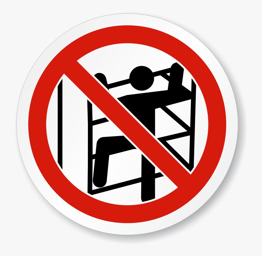No Climbing Symbol - Do Not Climb Symbol, Transparent Clipart