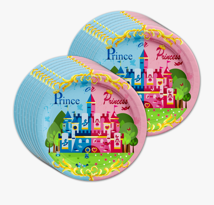 Prince Or Princess Gender Reveal Party Tableware Kit - Inflatable, Transparent Clipart