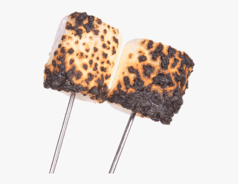 Burnt Marshmallows On Stick - Roasted Marshmallow Png, Transparent Clipart