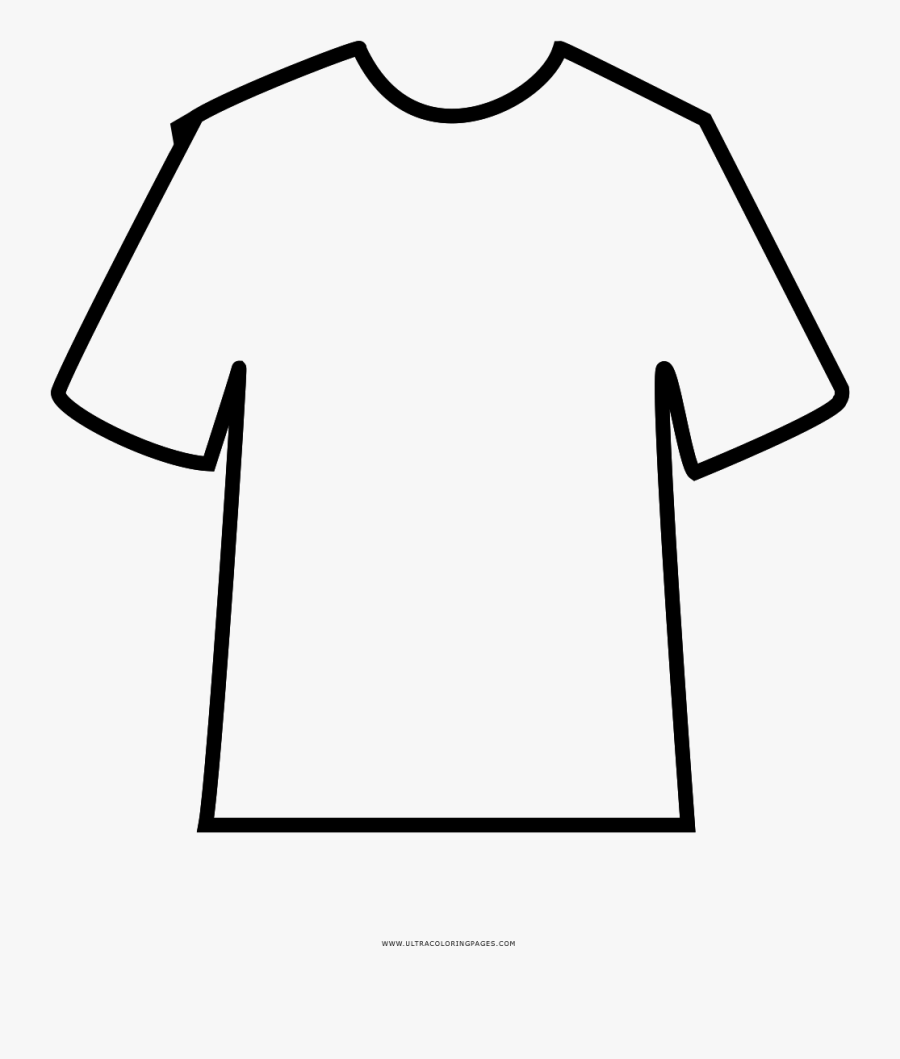 Tshirt Coloring Page Clipart , Png Download - Clipart T Shirt Coloring Page, Transparent Clipart