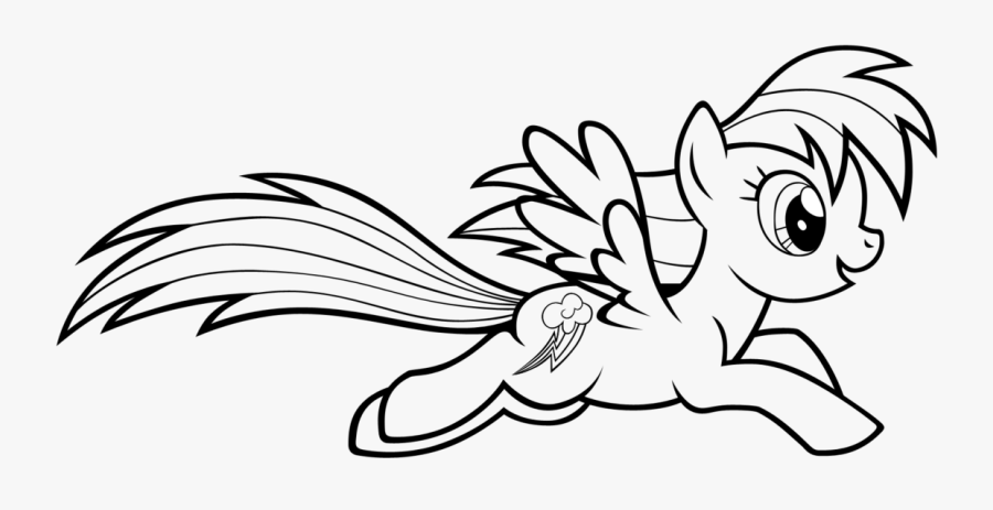 Rainbow Dash Coloring Page - Rainbow Dash Printable My Little Pony Colouring Pages, Transparent Clipart