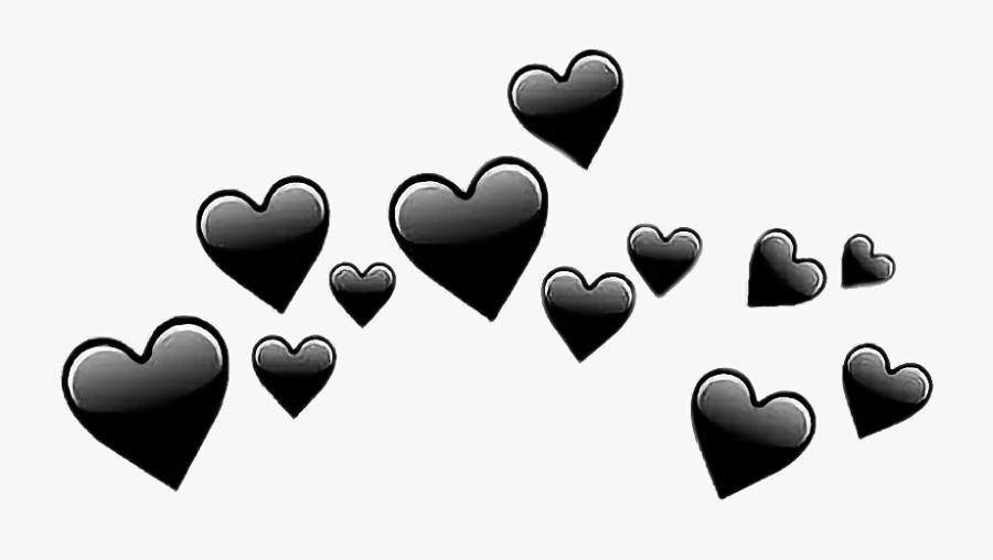 #tumblr #remix #hearts #summer #black #edit #photoedit - Transparent Black Heart Emoji, Transparent Clipart