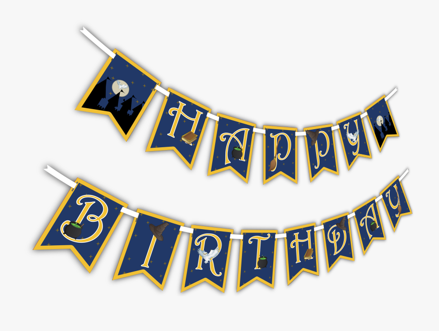 """Wizard Castle """"happy Birthday - Happy Birthday Banner Png, Transparent Clipart"""